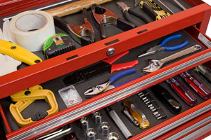 tools in a tool chest